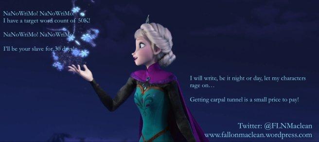 Elsa (Frozen) singing new lyrics for Let It Go
